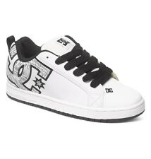 DC SHOES SKATE COURT GRAFFIK SE WHITE PRINT 300927 WW3 MENS UK SIZES 9 - 13