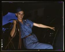 WWII Female Factory Worker- Corpus Christi Texas : Old  Photo Picture
