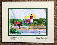 NAUSET BEACH LIGHTHOUSE ART PRINT Cape Cod National Seashore Light Chips Gift MA