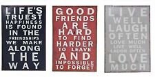 Metal Tin Wall Plaque Inspirational Saying Quotes Family Friends Live Love Laugh