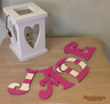 Decorative Personalised Wooden Bedroom Door Letters Name Plaque or Toy Box #42