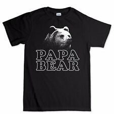 Papa Bear Fathers Day Gift For Dad Daddy Funny T shirt Tee Present T-shirt