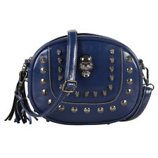 New Crossbody Bags Purse Cool Women Skull Punk Shoulder Bag Girls Rivet Tassel