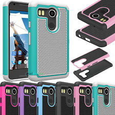 Hybrid Impact Rubber ShockProof Pattern Case Cover For LG Google Nexus 5X 2015