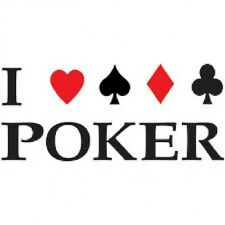 New I LOVE POKER White T-Shirts Small to 5XL