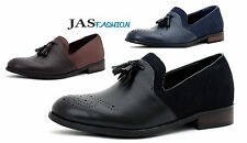 NEW Mens Smart Slip On Dress Tassel Designer Loafers Casual Brogue Shoes Size UK