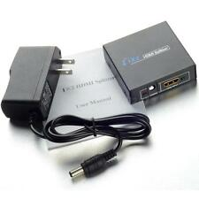 Full HD 1x2 Port HDMI Splitter Amplifier Repeater 3D 1080p Female MKLG