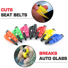 ResQme car resque safety tool life seatbelt cutter keychain glass breaker hammer