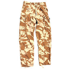 BRITISH ARMY DESERT COMBAT TROUSERS - USED - FREE POSTAGE - FISHING / CAMPING