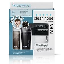 Clear Nose Pack For Men Nose Pore Blackhead Remover Solution 3 step Japan Black