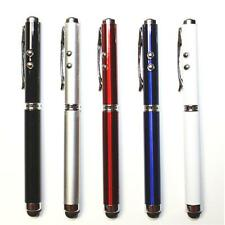 5X 4-in-1 Ballpoint Pen Stylus & Pointer & LED For iPad iPhone iPod Tablet PC