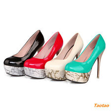 Hot Women's Pumps Thin High Heels Wedge Platforms Classic Pumps  Shoes H329