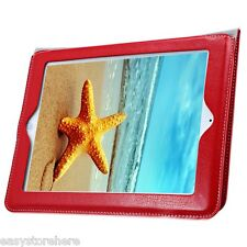 Magnetic Ultra Thin Genuine Leather Smart Stand Case Cover Stripe for iPad 2 3 4