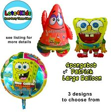 SPONGEBOB SQUAREPANTS OR PATRICK STAR PARTY BALLOON - PARTY SUPPLIES ONE BALLOON