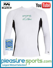 Billabong Iconic Men's Rashguard Regular Fit Long Sleeve 50+ UV Protection White
