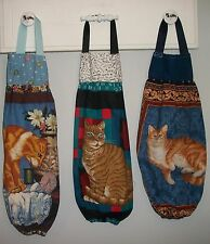 Cats Orange Marmalade Tan Tabby Plastic Grocery Bag Rag Sock Holder HCF&D