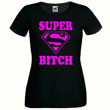SUPER BITCH LADIES FITTED T SHIRT, FUNNY NOVELTY WOMEN'S T SHIRT