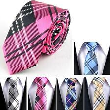 "1pc New Casual Mens Necktie Tie Skinny Narrow Slim 2"" Plaid Stripe Patterns JHXG"
