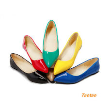Women's Pumps Low Heels Sexy Pointed Toe Comfort Classic Loafers Shoes TD324