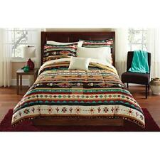 Brown Red Turquoise SOUTHWESTERN INDIAN BLANKET Comforter Bed in a Bag SET