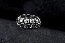 Skull Stainless Steel Men S Biker 316l Punk Silver Gothic Size Jewelry Cool Ring