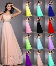 New Long Chiffon Bridesmaid Prom Formal Party Dresses Evening Ball Gown Dress