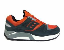 Saucony Men's Grid 9000 Premium Spice Pack Running Shoes Grey/Orange S70134-7 a2