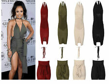 Women Ladies Multiway Slinky Bodycon Ruched Wrap Do It Anyway Party Dress 6-14