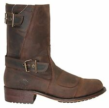 Grinders Route 66 B Brown Mens Leather Boot Cowboy Western Zipped Pointed Boots