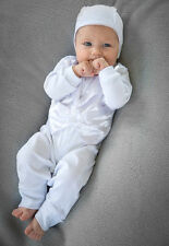 Baby Boy Outfit Christening Tuxedo Romper 3 piece Baptism Handmade Baby Clothes