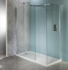 1100mm Walk In Shower Enclosure Wet Room Easyclean 10mm Glass Screen Tall Panel