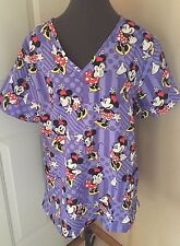 Nurses Scrubs Top Minnie Mouse Scrub Top XS S M L XL 2XL 3XL