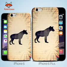 Hyena Vintage Watercolor Art  Case Cover for iPhone