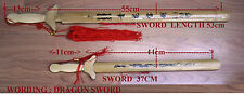 2 X BAMBOO WOODEN  SWORD IN SHEATH TOY FANTASY  FUN AND GAME  ART