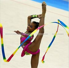 4M New Gym Dance Ribbon Rhythmic Art Gymnastic Streamer Twirling Rod Stick BFE