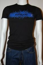 New Armani Exchange Mens Muscle Eagle Print Slim Fit Tee T-Shirt Black Sz XS-L
