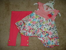 KIDS HEADQUARTERS PINK Outfit Set Size 12M 24M 12 24 months NWT NEW INFANT GIRLS