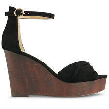 Wittner Ladies Shoes Black Suede Wedges