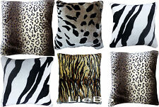 FAUX FUR ANIMAL PRINT CUSHION COVERS SO SOFT CUDDLY COVERS NEW