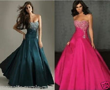 Sweetheart Prom Party Gown Women Evening Gowns Beading Sequins Bridesmaid Dress