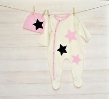 Baby Girl Footed One-Piece Infant Handmade Babygrow Handmade Baby Cotton Clothes