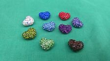 Clay Crystal  puff heart beads halfl drill 12 mm For Shamballa  jewelry makeing