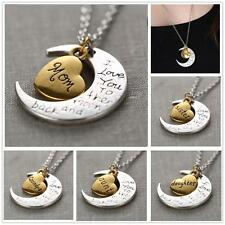 """Sweet """"I Love You To The Moon And Back"""" Fashion Chain Charm Necklace Pendant"""