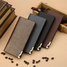 LUXURY Men's Leather Wallets Long Clutch Credit Card Coin Holder Bifold Wallet