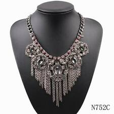 new fashion chunky cheap big chain pendant crystal statement necklace for women
