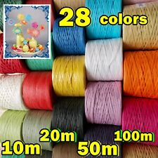 Many Variations RAFFIA PAPER RIBBON Band Tape Crafts Gifts Flowers Scrapbooks