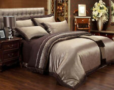 MAJESTY 4-Piece Luxury Sheets Duvet Cover Set - Chocolate (Double/Full, Queen)