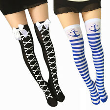 Fashion Womens Girls Long Socks Over Knee Thigh High Stockings Long Boot Socks