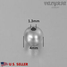 Wholesale 925 Sterling Silver Round Spacer Beads Jewelry DIY Findings 4.0x1.3mm