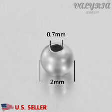Wholesale 925 Sterling Silver Round Spacer Beads Jewelry DIY Findings 2.0x0.7mm